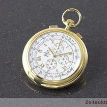 Zenith 18k (0,750) Gold Taschenuhr Prime Chronograph Lepine...