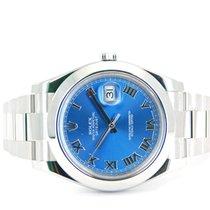 Rolex Datejust II Stainless Steel Blue Roman Dial - 116300