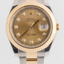 Rolex Datejust II Champagne Diamond Dial Stainless steel 18K
