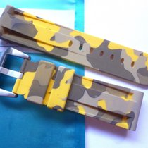 Bodhy Rubber strap 24mm - Yellow Camo with buckle Camouflage...