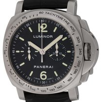 Panerai : Luminor Chronograph :  PAM 215 :  Stainless Steel...