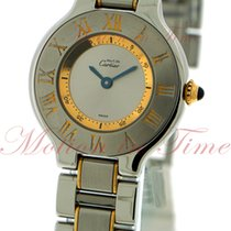 Cartier Must 21 Small, Silver Dial - Yellow Gold / Stainless...