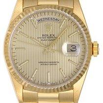 Rolex Men's Gold Rolex President Day-Date Watch Champagne...