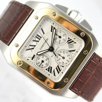 Cartier SANTOS 100 XL 18K YELLOW GOLD & STEEL  2740