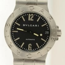 Bulgari Diagono Lcv29s Automatic Steel Ladies Watch 30mm Lcv 29 S