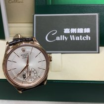 Rolex Cally - 50525 CELLINI DUAL TIME Everose Gold White New