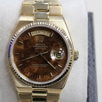Rolex President Day Date Quartz 19018 18K Yellow Gold Wood