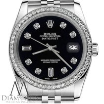 Rolex Womens Rolex 36mm Datejust Black Color Dial With 8+2...