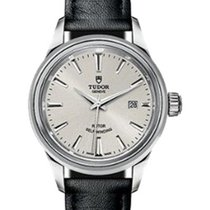 Tudor Style 12100 Silver Index Stainless Steel Leather 28mm 2017