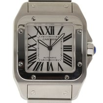 Cartier Santos 100 W200737G 38mm Stainless Steel White...