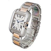 Cartier W5310037 Tank Anglaise 18k Pink Gold/Steel Women's...