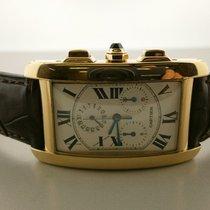 Cartier Tank Americaine Chronoflex W2605856 18k Chronograph....