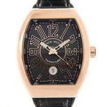 Franck Muller Vanguard 18k Rose Gold Black Automatic V 41 Sc...