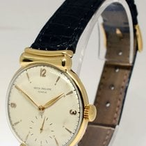 Patek Philippe 1585 Vintage 18k Yellow Gold Mens Windup Watch...