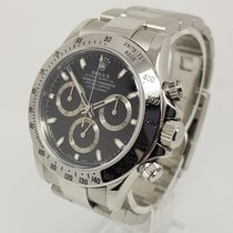 Rolex Daytona Mens 40mm Steel Black Dial Watch, 2006, Full Set