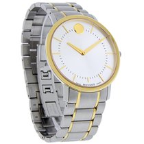Movado TC Thin Classic Mens Two Tone Swiss Quartz Watch 0606689