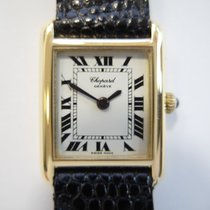 Chopard LUC Tank 18 k solid gold new lizard strap 2512 ...