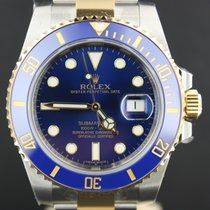 Rolex Submariner Gold/Steel Blue Dial, Full Set 116613LB