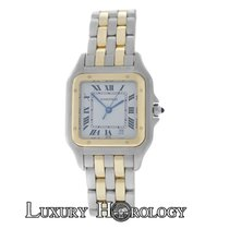 Cartier Mint Ladies Midsize   Panthere 110000R Two Row 18K...
