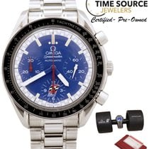 Omega Speedmaster Michael Schumacher Racing Blue Auto B&P...