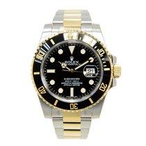 劳力士  (Rolex) Submariner(date) Gold And Steel Black Automatic...