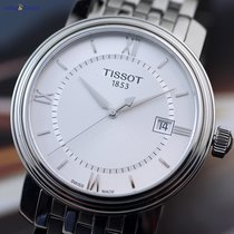 Tissot Mens' Bridgeport Quartz 40mm Steel on Steel Silver...