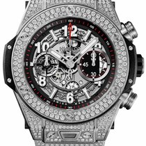 Hublot Big Bang Unico Titanium Pave 45mm Automatic Chronograph