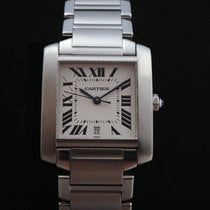 Cartier Tank Française Steel Automatic 2302 Men's