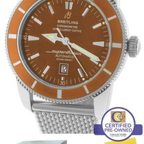 Breitling SuperOcean Heritage 46 Orange Bronze A17320 46mm Mesh