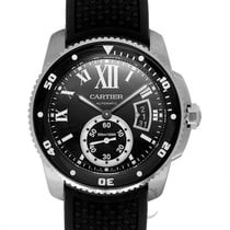 カルティエ (Cartier) Calibre de Cartier Diver Watch Black Steel/Rub...