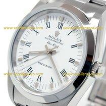 Rolex Air King Precision White Dial Roman Numerals 34mm 14000 M