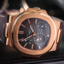 Patek Philippe Nautilus 18k Rose Gold Moonphase Power Reserve