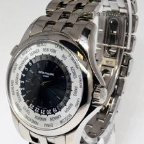 Patek Philippe Mens World Time Watch 18k White Gold Box/Papers...