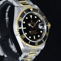 Rolex SUBMARINER DATE ACCIAIO E ORO Ref. 16613 NERO