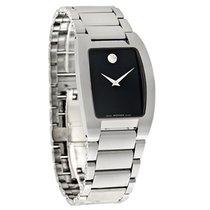 Movado Fiero Mens Tungsten Carbide Swiss Quartz Watch 0606499