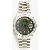 Rolex President Day-Date 118239 Men's New Style White Gold...