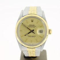 Rolex Datejust 36mm Steel/Gold Plexi (BOX1991)