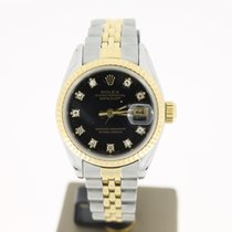 Rolex Datejust 26mm Steel/Gold BlackDiamondDial (BOX1990) Saphire