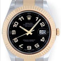 Rolex Datejust II Men's 2-Tone 41mm Watch 116333 Black...
