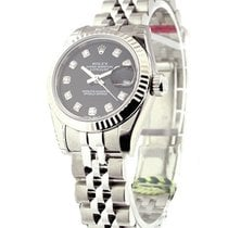Rolex Unworn 179174 Datejust in Steel with White Gold Fluted...