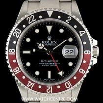 ロレックス (Rolex) S/Steel O/P Black Dial Coke Bezel GMT-Master II...