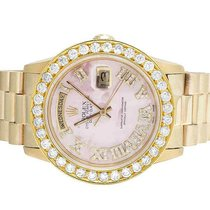 Rolex President 18K Yellow Gold Day-Date 36MM 18038 Pink Dial...