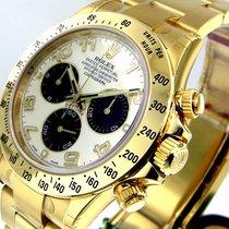 Rolex Daytona 116528 Panda Dial 18k Yellow Gold Oyster Bracelet