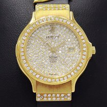 Hublot Mdm 18k Yellow Gold All Factory Diamonds Rare Vintage...