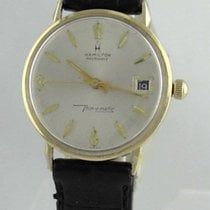 Hamilton Masterpiece 14k Yellow Gold Thin-o-matic Wrist Watch...