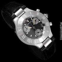 Cartier 21C Mens Chronoscaph Chronograph, Ref. 2424 - Stainles...