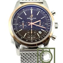 Breitling Transocean Chronograph steel gold brown UB015212...