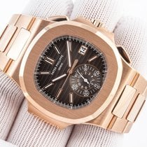 Patek Philippe Nautilus 5980/1R Rose Gold Black Dial On Bracelet