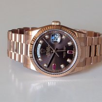 Rolex Day Date 118235 Everose Ruby Diamond Oanvänd - 2017