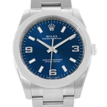Rolex Air King Blue Arabic Dial Domed Bezel Watch 114200 Unworn